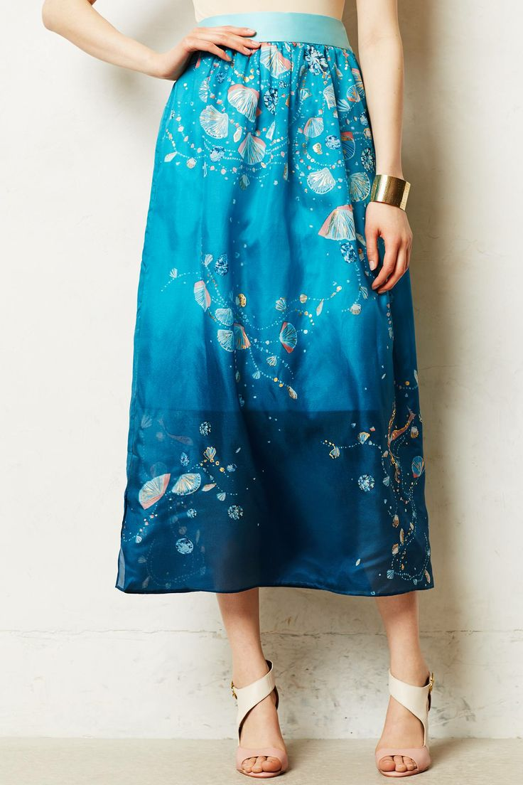 Seascape Maxi skirt. Anthropologie. $628.