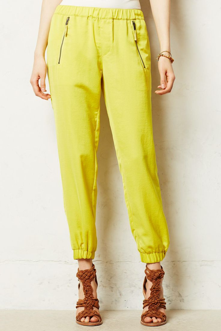Harper Joggers. Available in yellow, black, moss. Anthropologie. $118.