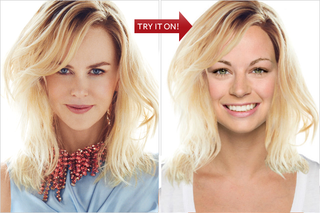 InStyle Virtual hair make-over. In case you like experimenting at your desk!