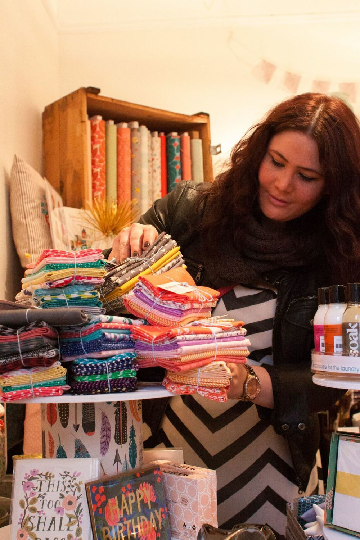 Fabric shopping at  DryGoods Design  in Ballard.