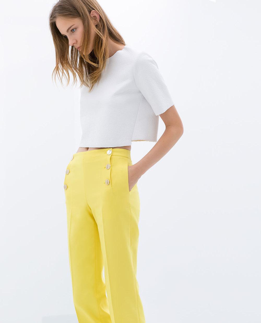 Shiny crop sweater. Zara. $79.90.