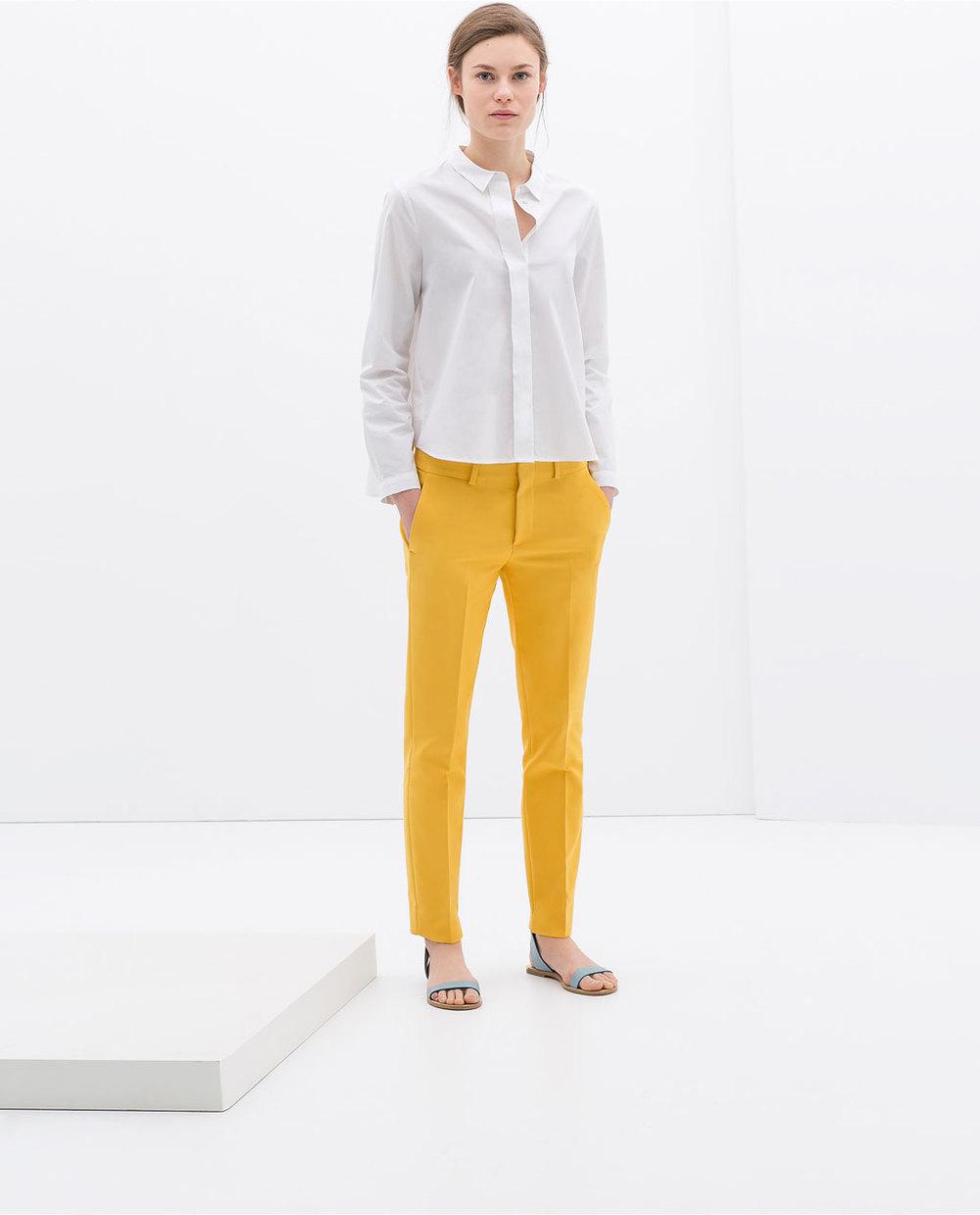 Cotton trousers. Zara. $69.90.