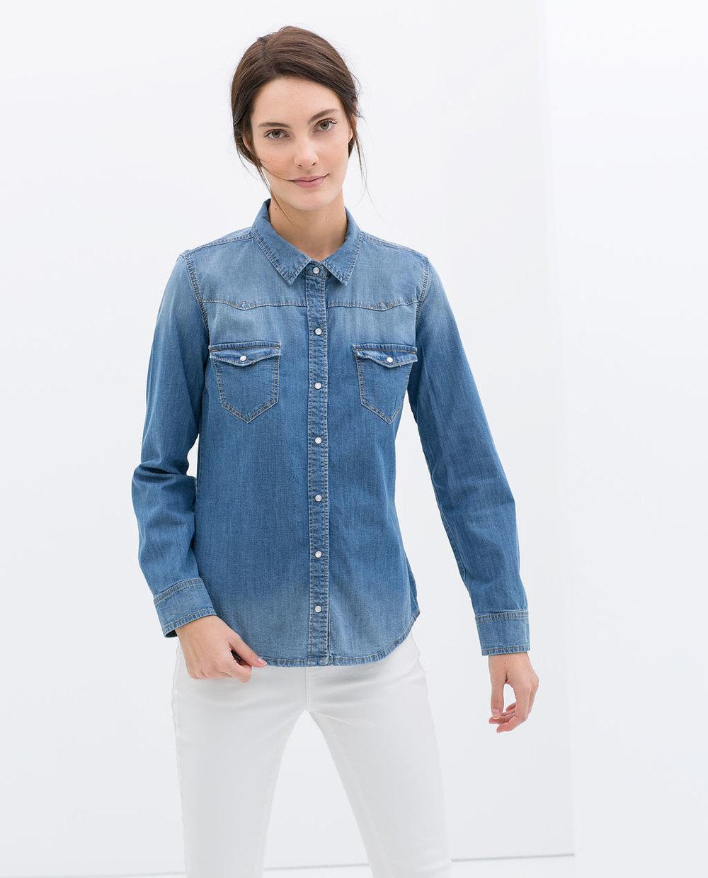 Basic Denim shirt. Zara. $59.90.