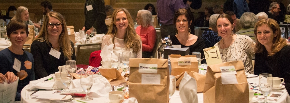 Ladies who lunch. A few of the members of the Poplin table at YouthCare's 39th annual luncheon.