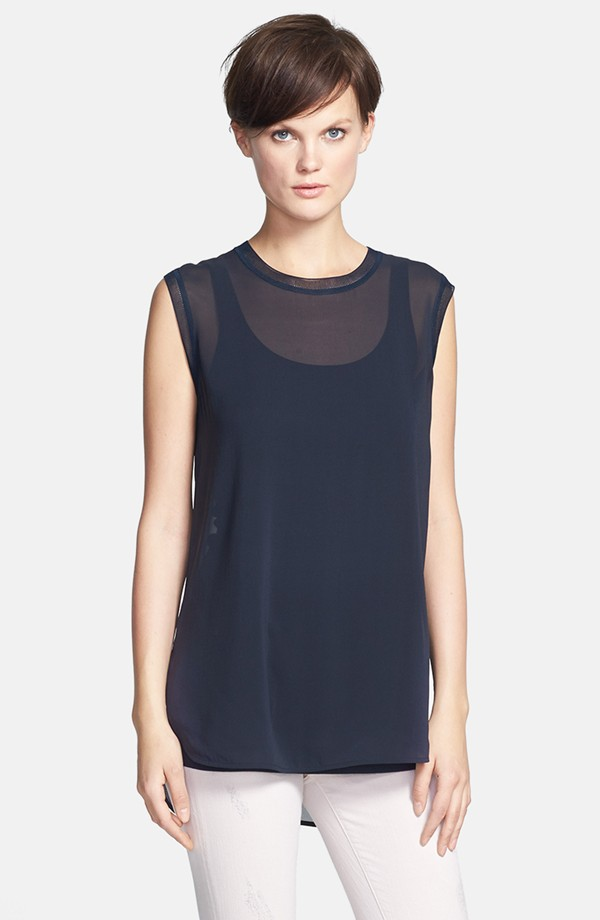 Vince sleeveless muscle tee. Available in coastal or grape. Nordstrom. $195.