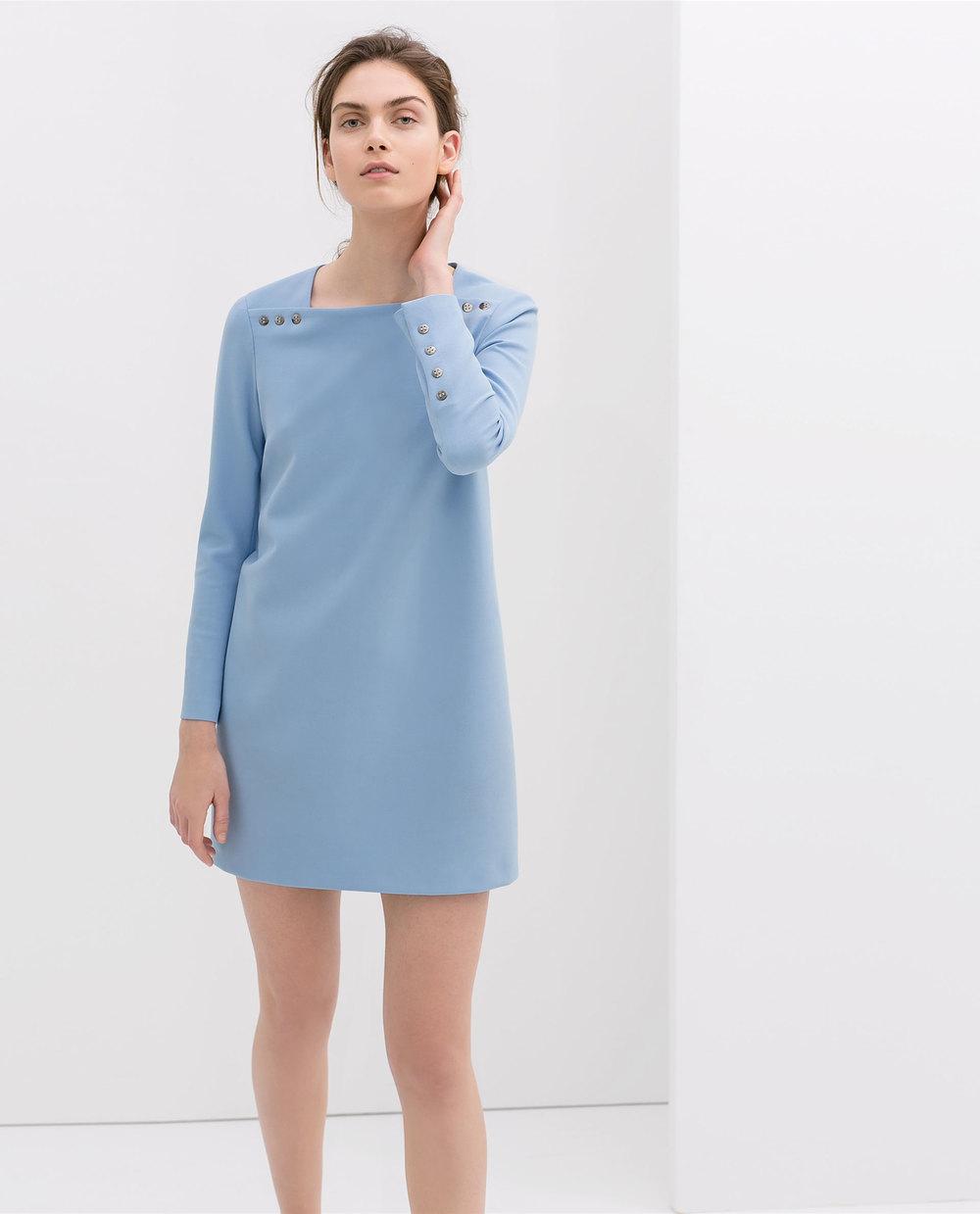 Long sleeve dress with buttons. Zara. $99.90.