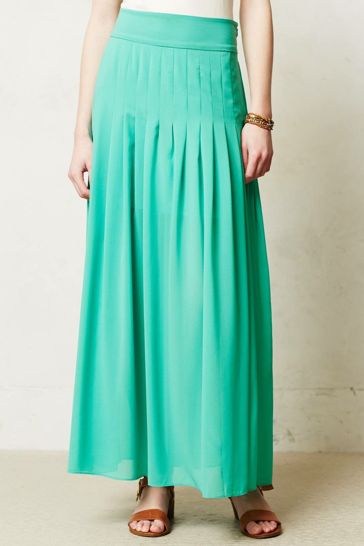 Zocalo Maxi skirt. Available in yellow, green, coral. Anthropologie. $118.
