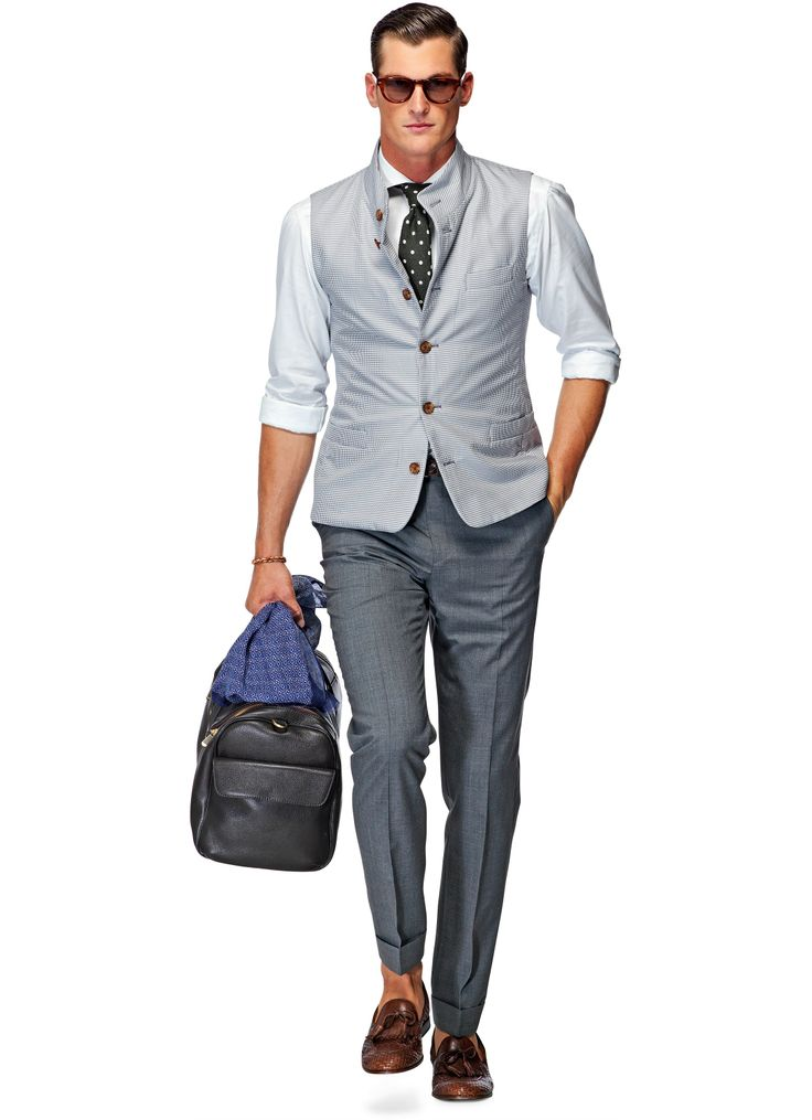 Light grey body warmer Bw021. SuitSupply. $199.