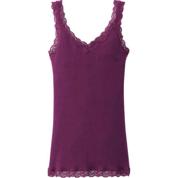 2 Way rib laced tank top. Available in multiple colors. Uniqlo. $9.90.