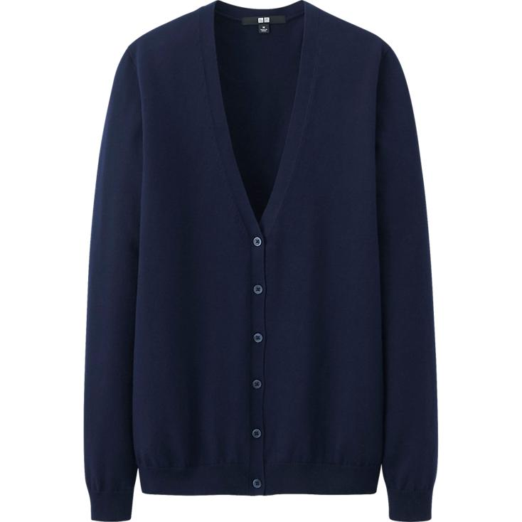 UV Cut V neck cardigan. Available in multiple colors. Uniqlo. $29.90.