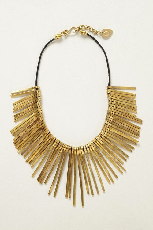 Root needles necklace. Available in silver, gold. Anthropologie. $88.