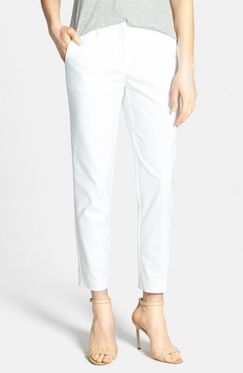 Theory bedina cotton blend cigarette pants. Available in multiple colors. Nordstrom. $275.
