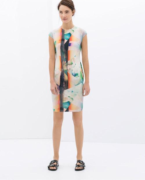 Printed dress. Zara. $59.90.