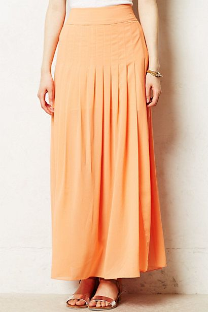 Zocalo Maxi skirt. Available in green, coral, yellow. Anthropologie. $118.
