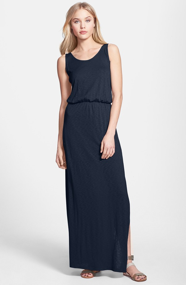 Splendid Burnout maxi dress. Available in navy, red. Nordstrom. Was: $128. Now: $85.76.