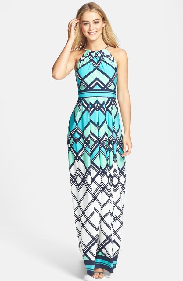 Eliza J Graphic print jersey maxi dress. Nordstrom. $148.