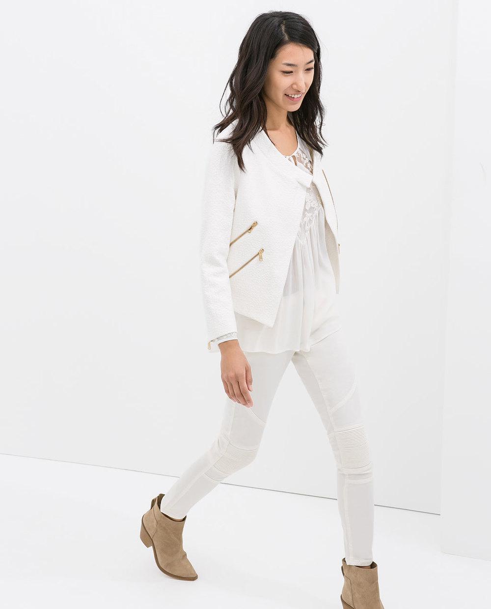Blazer with zips. Zara. $119.