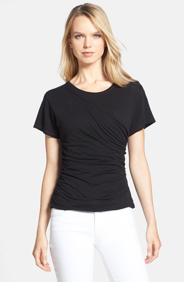Theory Tact ruches pima cotton tee. Nordstrom. $95.