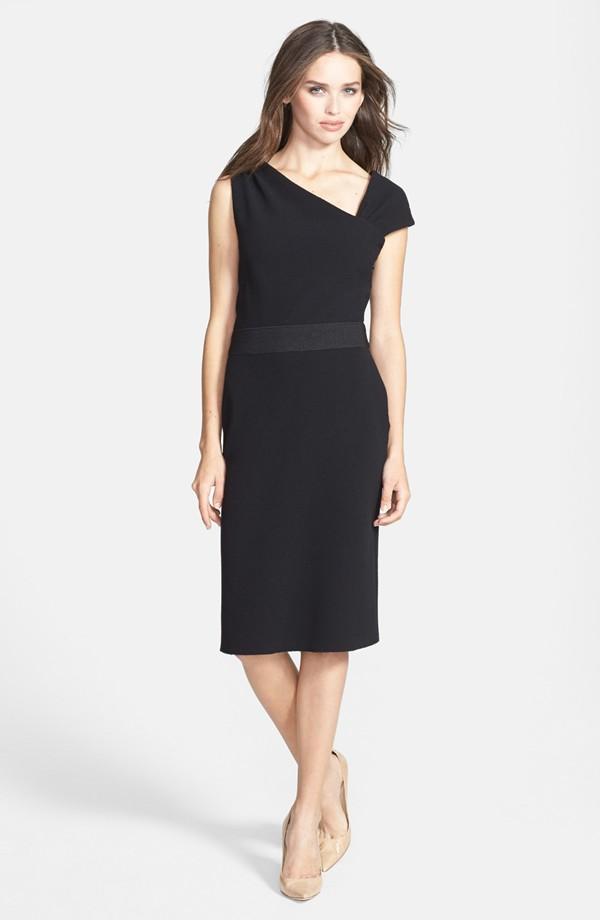 Vera Wang Asymmetrical crepe sheath dress. Nordstrom. $190.