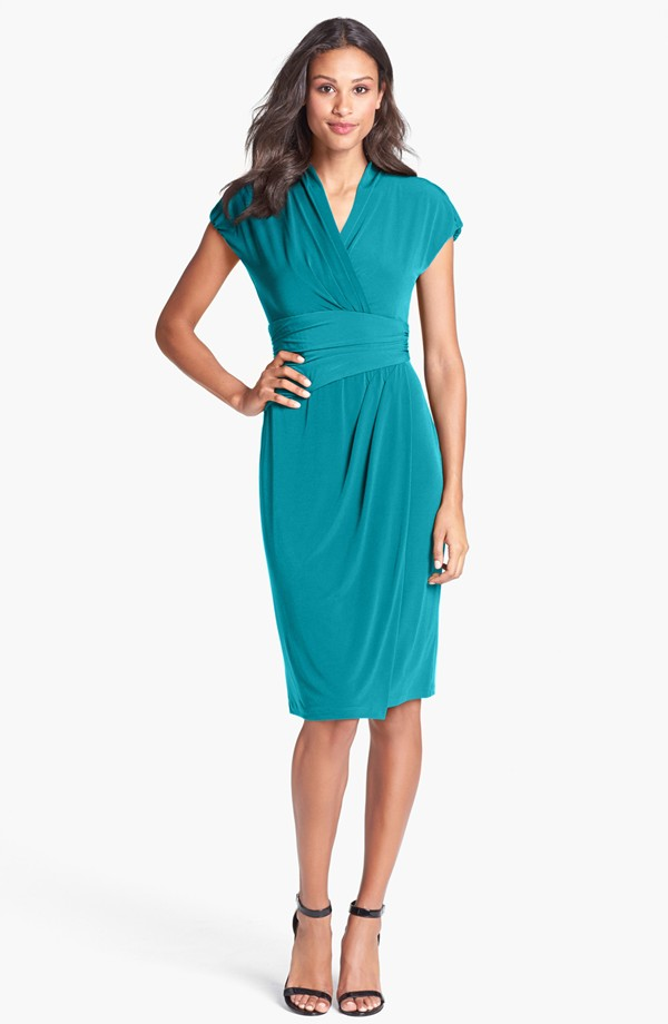 Ivy and Blue Ruched faux wrap dress. Available in multiple colors. Nordstrom. $98