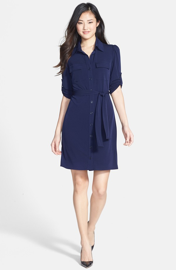 Laundry by Shelli Segal Matte jersey shirt dress. Nordstrom. $138.