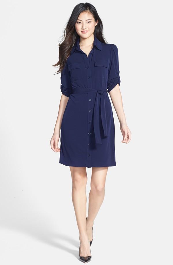 Laundry by Shelli Segal Matte jersey shirt dress. Nordstrom. $138.