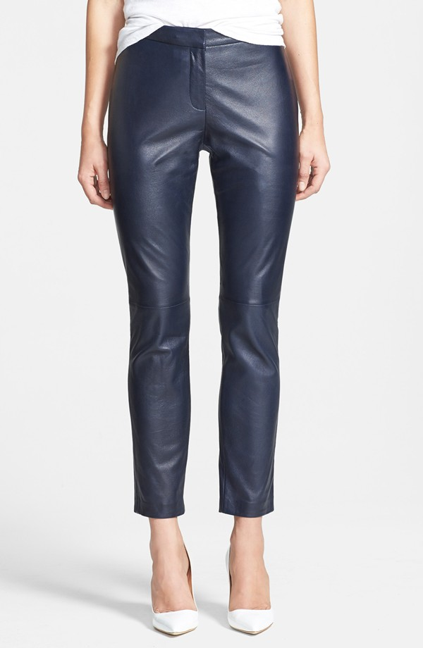 Halogen Leggy leather ankle pants. Nordstrom. Was: $258 Now: $149.