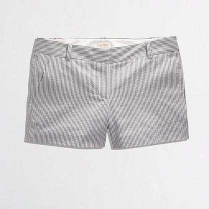 J Crew Factory Seersucker short. J Crew Outlet. Was: $54.50 Now: $29.50 through April 16th.