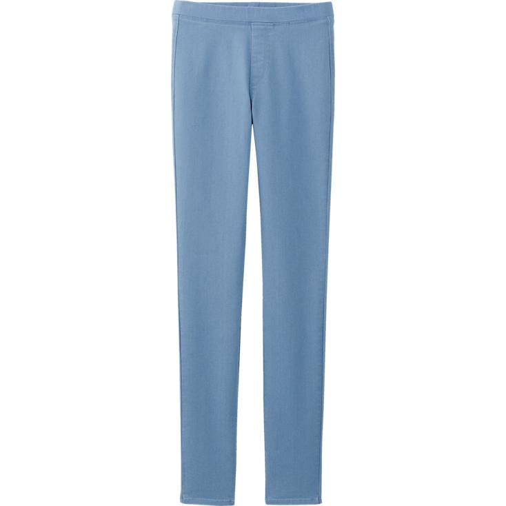 Denim leggings. Available in grey, blue, navy. Uniqlo. $19.90.