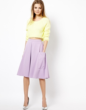 Midi Skirt in ponte with pocket detail. ASOS. $52.68.