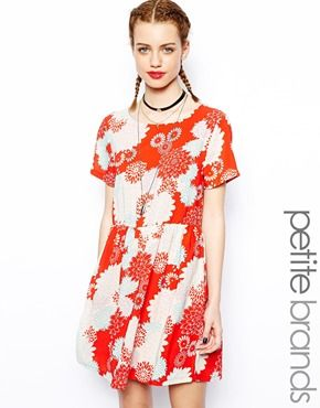 Glamorous Petite Chinese print tea dress. ASOS. $47.94.