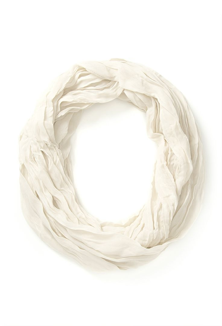 Undone pleated infinity scarf. Available cream, pink. Forever 21. $8.80.