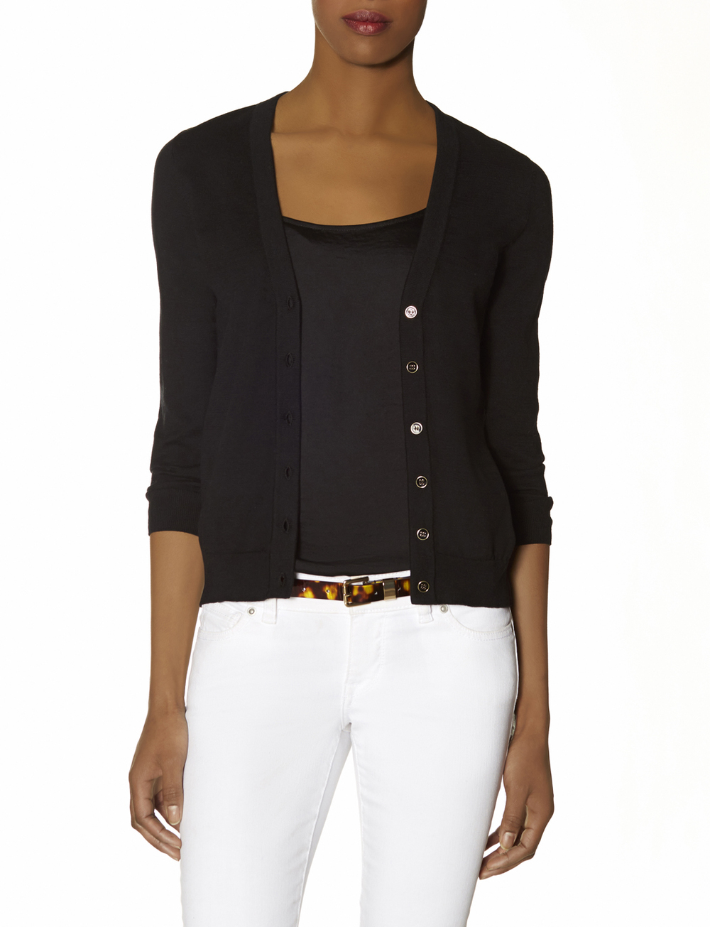Petite V Neck cardigan. Available black, white. The Limited. Was: $49.95. Now 40% off. CODE: ALL40.
