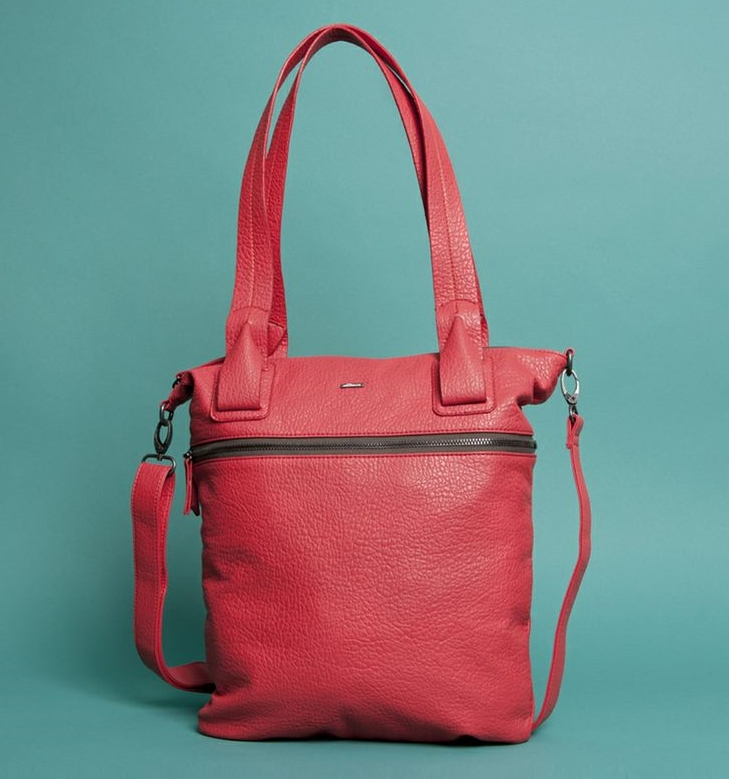SkunkFunk Vegan leather Reversible handbag. Red. SkunkFunk. Was: $45 Now: $35.
