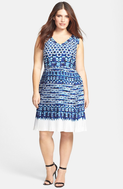 Adrianna Papell Ikat Print Fit & Flare Dress. Nordstrom. $180.00