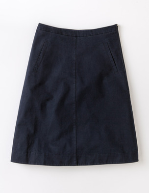 Boden Chino skirt. Available in navy, white, cappuccino, ceylon yellow, oriental blue, pearl, pink daiquiri. Boden. $78.