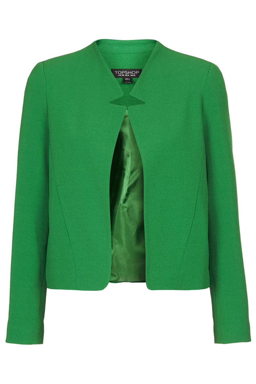 Topshop Crepe Notch front jacket. Topshop. $110.