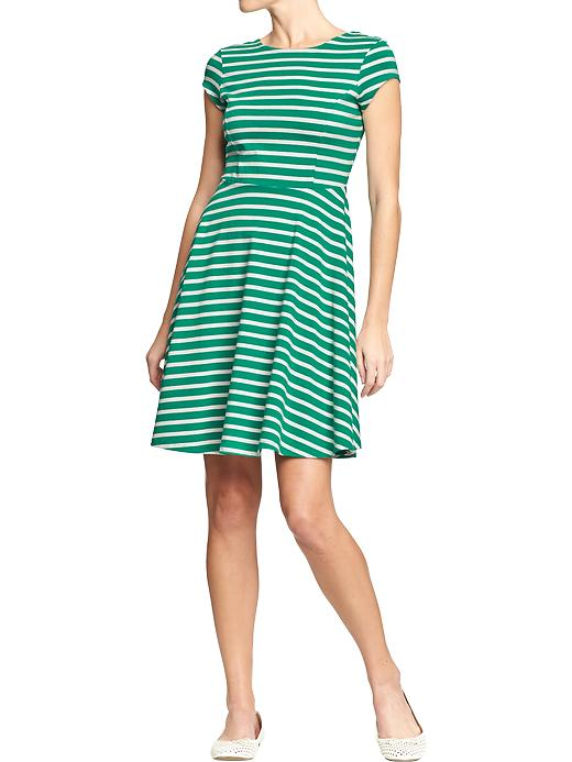 Fit and flare dress. Multiple color combinations available. Old Navy. Was: $29 Now: $22.