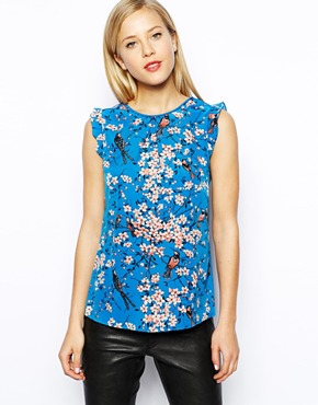Oasis Neck bird print top. ASOS. Was: $71.49. Now: $35.75.