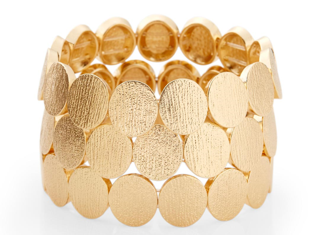 Textured Ovals stretch bracelet. The Limited. Was: $29.95 Now: $14.97.