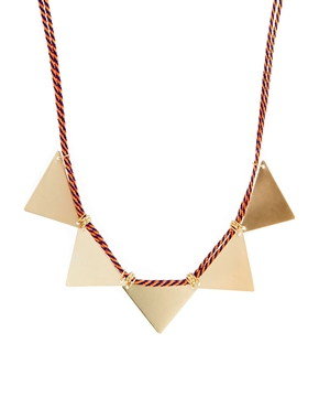 ASOS Cord triangle necklace. ASOS. $18.81.