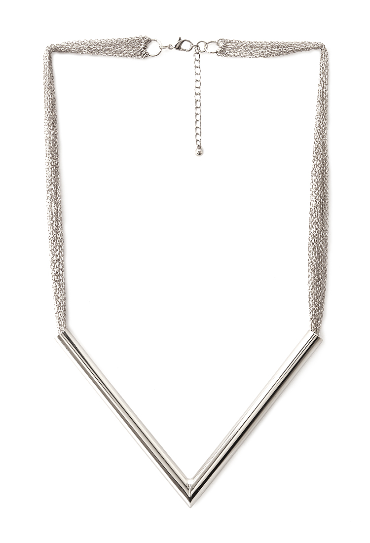 Angular pointed bar necklace. Available in silver, gold. Forever 21. $9.80.