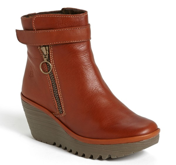 Fly London Yava Bootie. Available in cognac, black, bordeaux. Nordstrom. Was: $229 Now: $154.90.