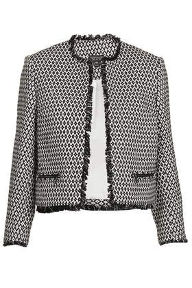 Folklore Crop folk tile jacket. Topshop. $116.