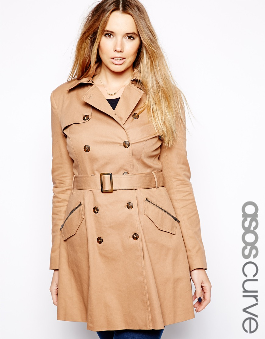 ASOS Curve Exclusive Fit and Flare trench. ASOS. $122.29.