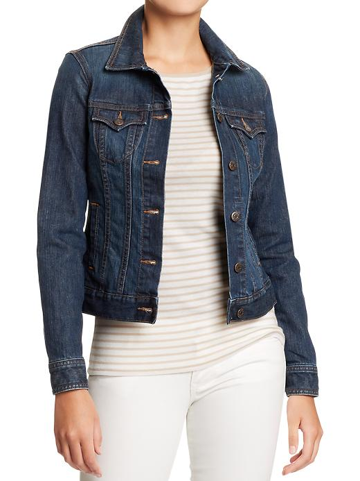 Denim Jacket. Available in multiple colors and washes. Also available in regular, tall, petite. $34.94.