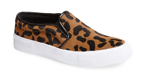Steve Madden The Blonde Salad NYC Leopard Print Pony Hair Sneaker. Nordstrom. $139.95.