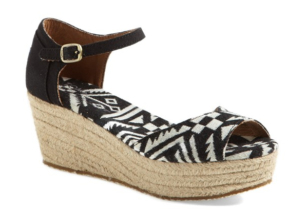 TOMS Platform Wedge sandal. Nordstrom. $68.95.
