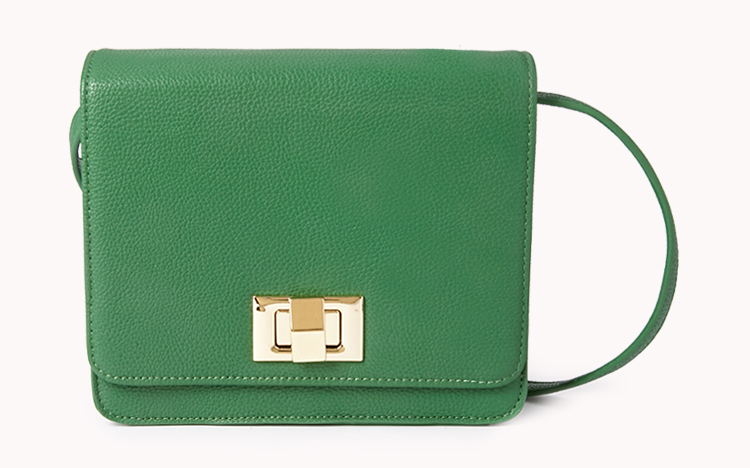 Sweet side cross body. Available in cream, green. Forever 21. $19.80.