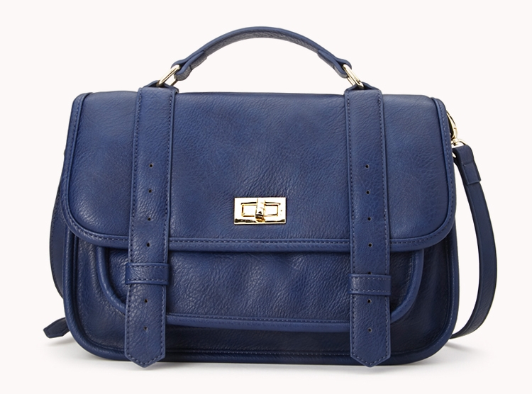 Runaround faux leather satchel. Available in navy, camel, red. Forever 21. $27.80.